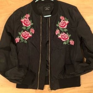 Love Tree Bomber jacket with embroidery flowers